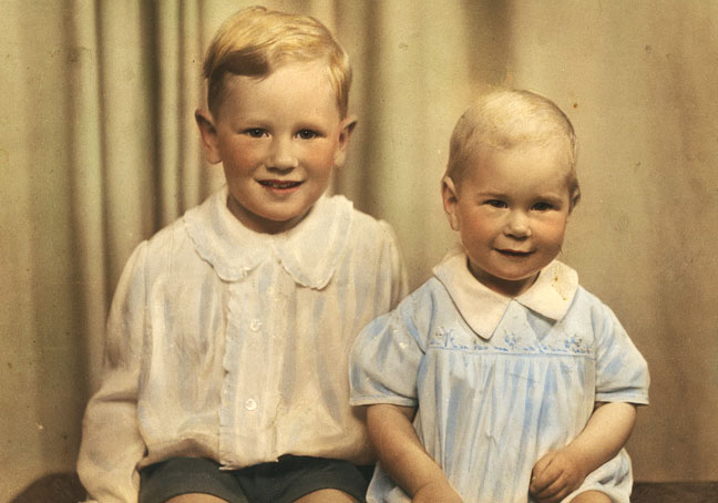 Ian and his brother, William