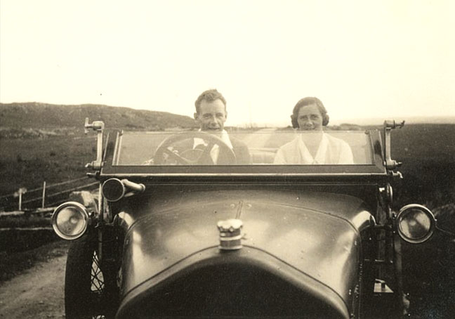 Driving to Loch Maree, 1928