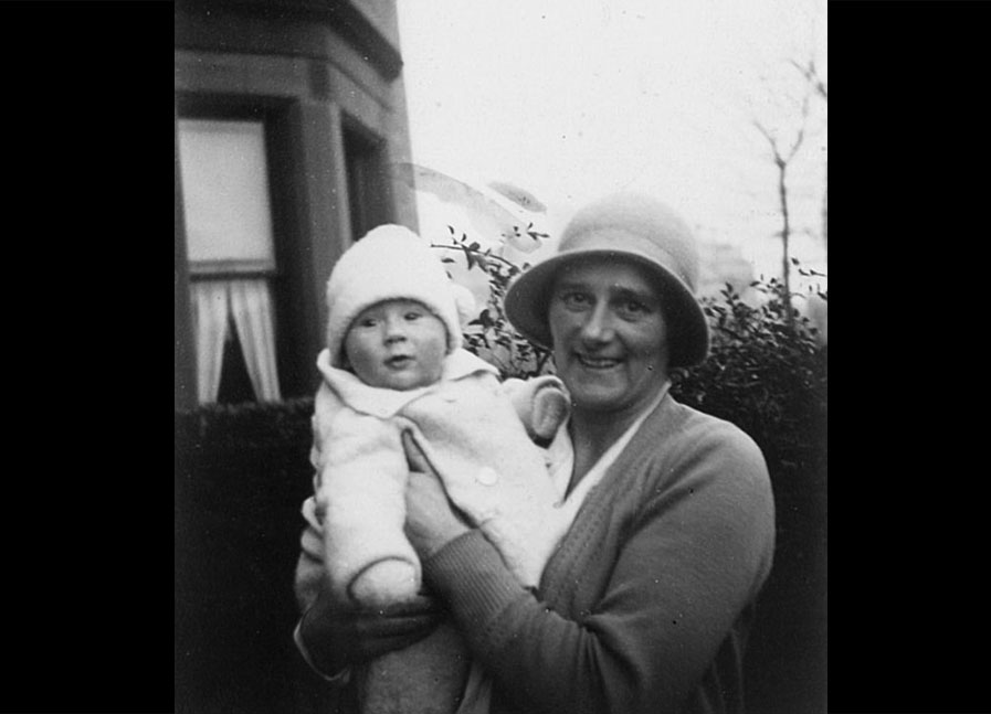 Mother, Isobel, with Ian, c 1933